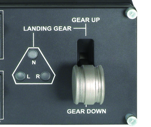 Realistic Landing Gear Control with LED Indicators